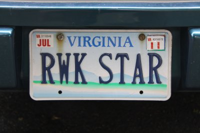 Rwk start license plate -- Photo By gammaman / CC By 2.0